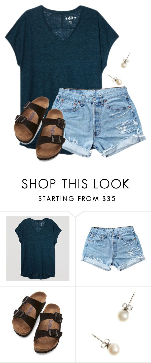 """""""Jake from State Farm..."""" by flroasburn ❤ liked on Polyvore featuring LOFT, Levi's, Birkenstock and J.Crew"""
