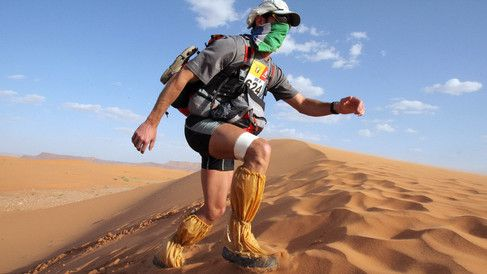 "These People Are Trying to Run 155 Miles Through the Sahara Desert. The Marathon des Sables, or marathon of the sands, has built a reputation as the ""toughest foot race on Earth"" since it began in 1986 with 23 runners."