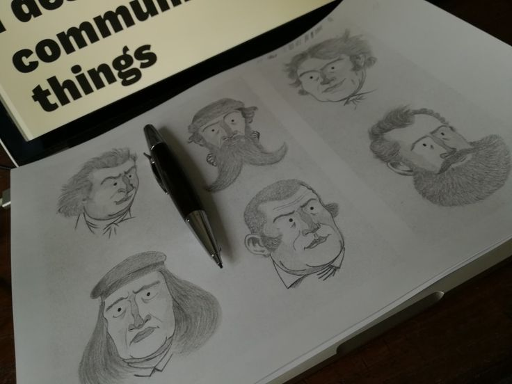 Some caricatures, a good old passion of mine. Can you spot who they are? #caricatures
