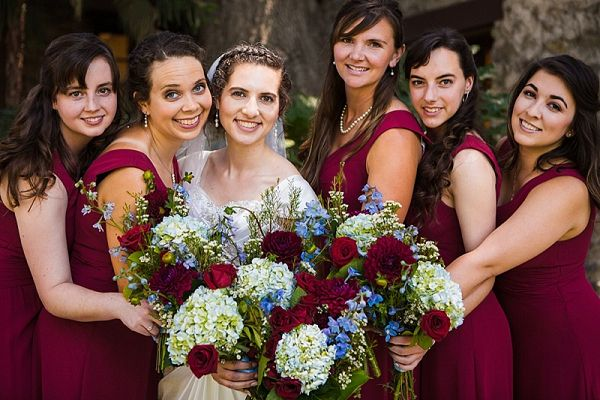 Burgundy bridesmaids    #wedding #weddingideas #aislesociety #rusticwedding #budgetwedding