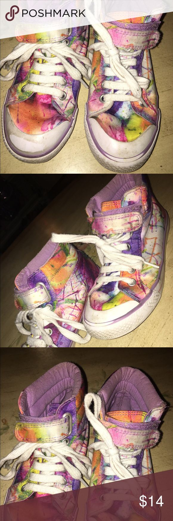 Girls high top sneakers Funky and stylish ! Lots of life left ! Xhilaration Shoes Sneakers