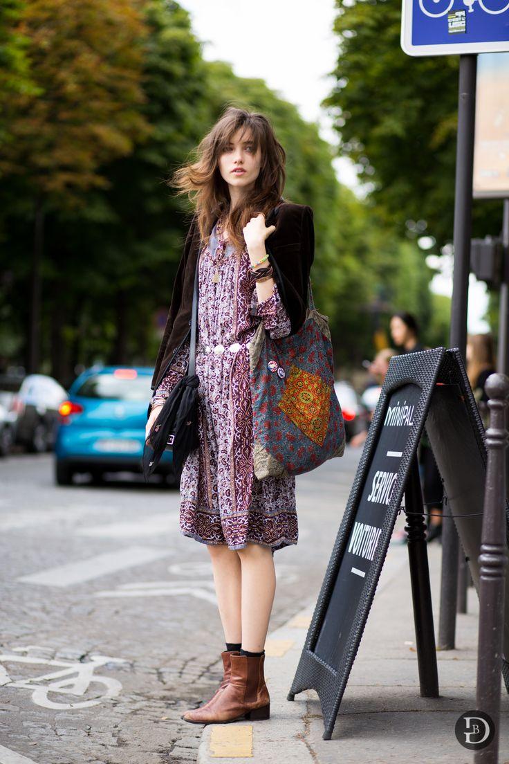 ParisHCAW1415Day3-4321 Summer dress, brown boots