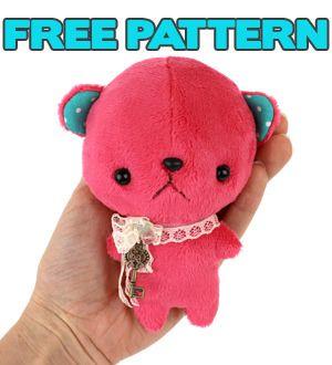 https://www.flickr.com/photos/juumou13/30244847000/in/pool-96706095@N00  Anime pocket bear plush pattern at http://www.teacuplion.com