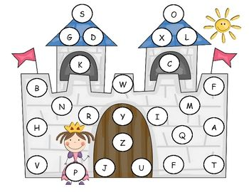 FREE from Lorie Duggins on TpT. Use this alphabet mat with a cookie sheet and button magnets.  Use a white paint pen and write letters on the magnets.  You can match capital to ca...