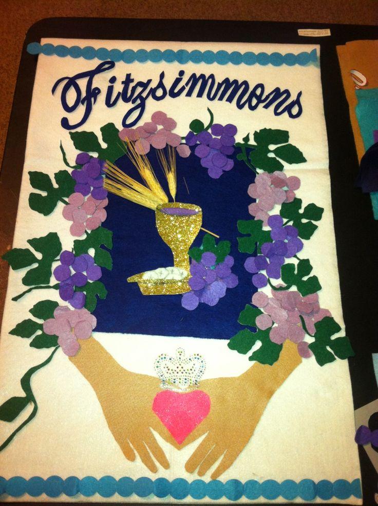 claddagh First Communion banner