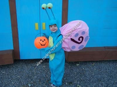 Homemade Gary the Snail Halloween Costume: For Halloween this year our family decided on SpongeBob as our theme.  Our youngest wanted a homemade Gary the Snail Halloween costume.  The main body,