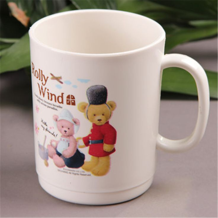 Cartoon Cute Plastic Cups For Childern Drinking Creative Goods Fincan Drinkware Copo Cartoon Eco-friendly Mug Cup Stocked DDQ160 #Affiliate