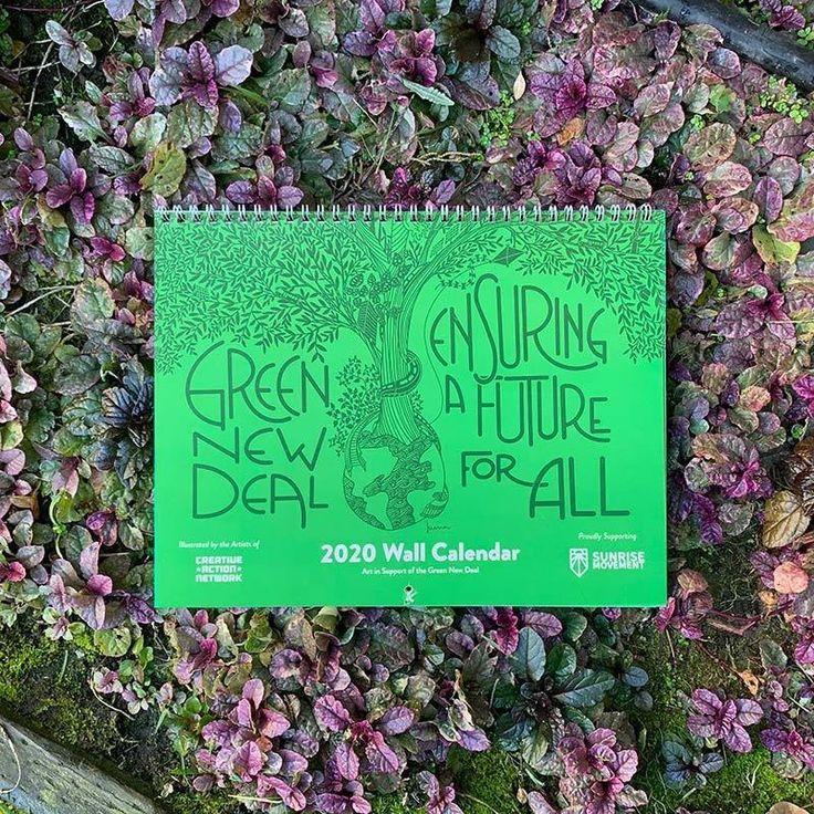 Green new deal 2020 wall calendar wall calendar green