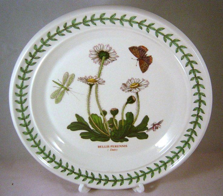 Portmeirion DAISY BELLIS PERENNIS Bread Plate Salad 1972 Botanic Garden Bugs #Portmeirion