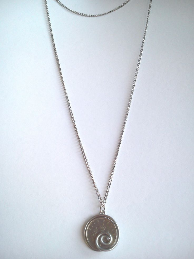 handmade necklace with 2chains and a coin #hobby #jewel