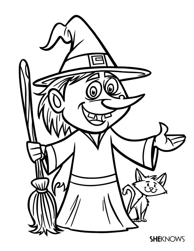These Halloween Coloring Pages Are the Perfect Antidote to