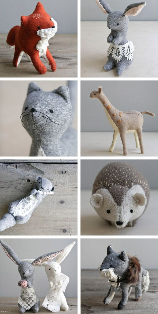 Stuffed critters by Oh Albatross on Etsy