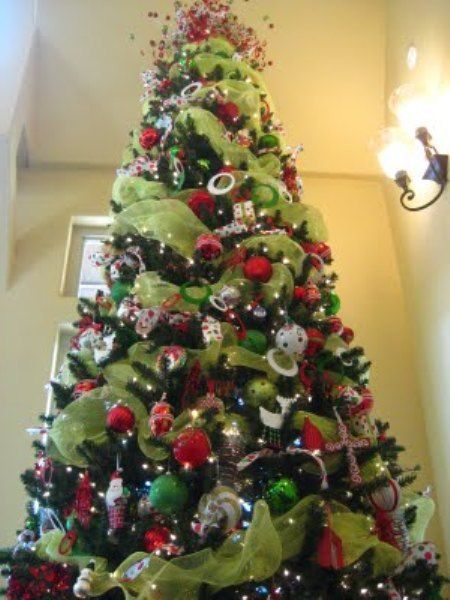 Decorating Christmas Tree With Deco Mesh Holidays
