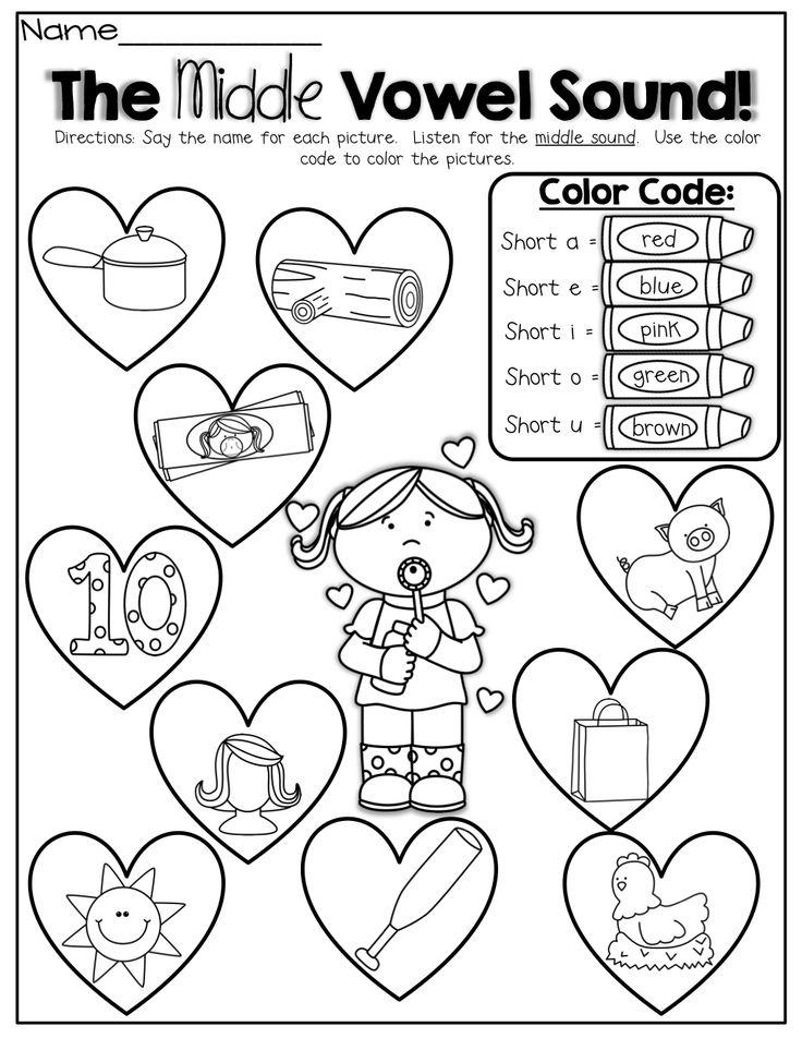 Phonics Coloring Worksheets : Best letter sounds images on pinterest short vowels