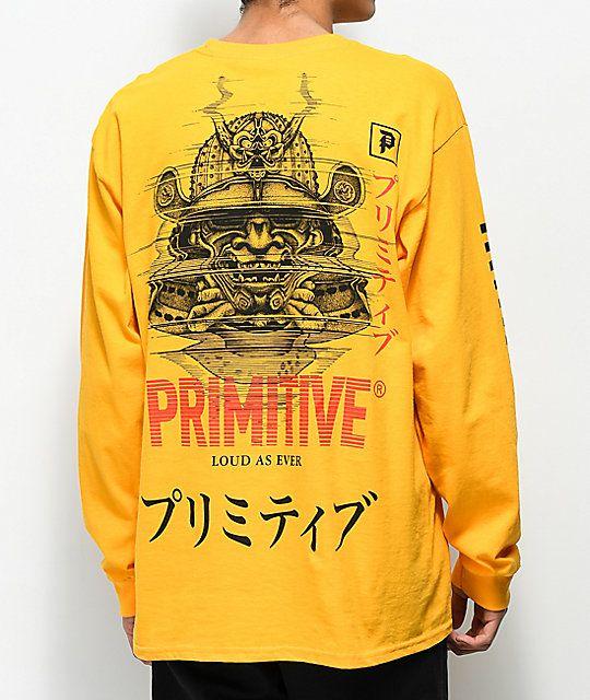 3d326a2b Primitive Samurai Gold Long Sleeve T-Shirt in 2019   Element N ...