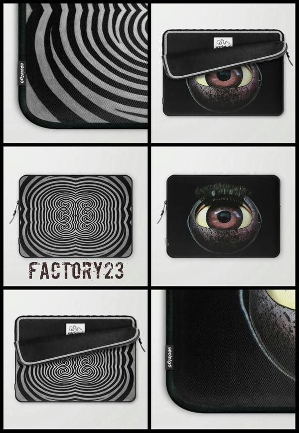 These awesome Laptop Sleeves are now on #society6!! https://society6.com/factory23/laptop-sleeves #black