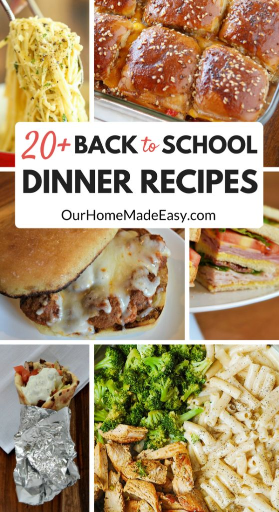 Here are more than 20 easy week night dinners for school nights! They are perfect for making as needed or prepping in advance for the week. See them here!
