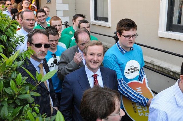 An Taoiseach Enda Kenny at the Fine Gael rally in Mansion House
