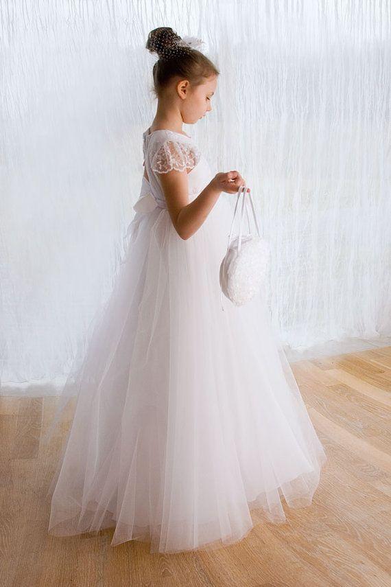 First Holy Communion dress in white communion by MonikaVenika