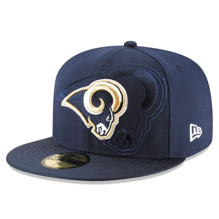 Los Angeles Rams New Era Sideline Official 59FIFTY Fitted Hat - Navy - $27.99