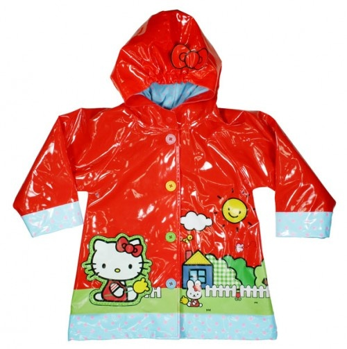 {Hello Kitty Scenic Raincoat for kids} do they have these in grown-up sizes? ;)