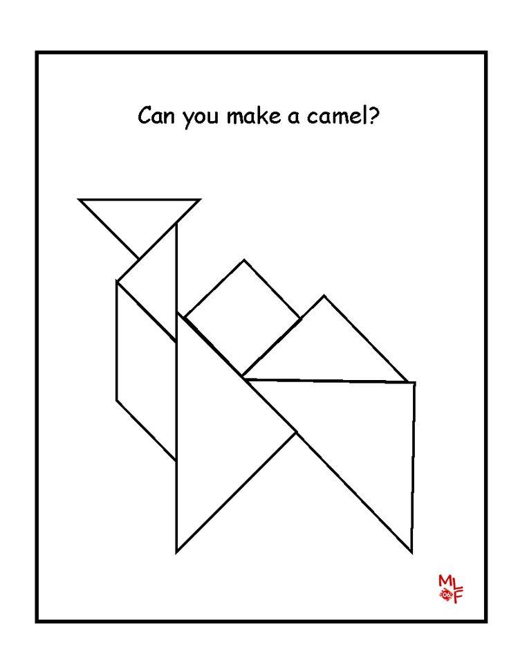 everyday math pattern block template - 76 best math tangram images on pinterest for kids math