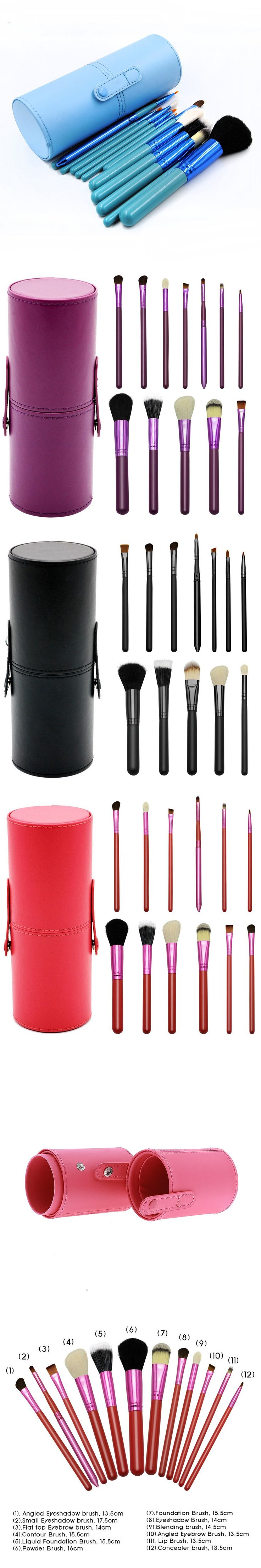 Professional Makeup Brushes Set With Brush Holder Cup 12Pcs Foundation Powder lip Eye Brush pincel maquiagem Makeup Brushes Case
