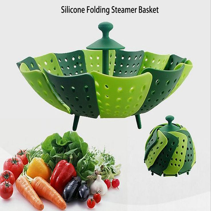 free shipment silicone folding steamer non-scratch PP steaming rack Eco-Friendly vegetable dishes with stand holder