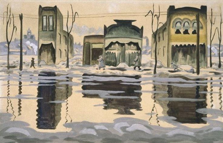 February Thaw, Charles Burchfield, 1920
