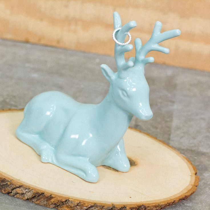 Cute And Functional Just Like We Like Our Home Decor Ceramic Deer Ring Holder