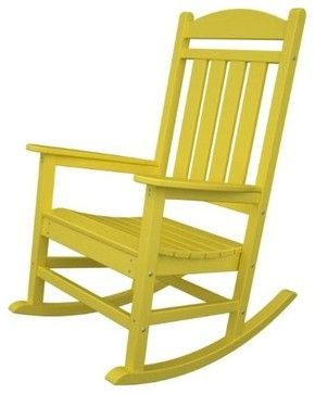 Recycled Earth-Friendly Outdoor Patio Executive Rocking Chair, Sunshine Yellow - modern - outdoor chairs - Amazon