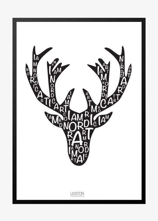I am Nordic plakat – elg
