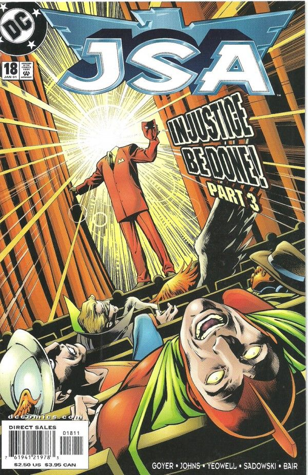 JSA: IN JUSTICE BE DONE PART 3 (DC Comics) - oComics  Johnny Sorrow has succeeded in doing the unthinkable: He has unleashed the dreaded King of Tears. With Sentinel in critical condition and Dr. Fate missing, how will the JSA prevail? Perhaps with help from the most unlikely of allies...The Spectre!  Read Now: http://ocomics.com/product-category/comics/dc-comics/  #dc #comics #online #ocomics #JSA