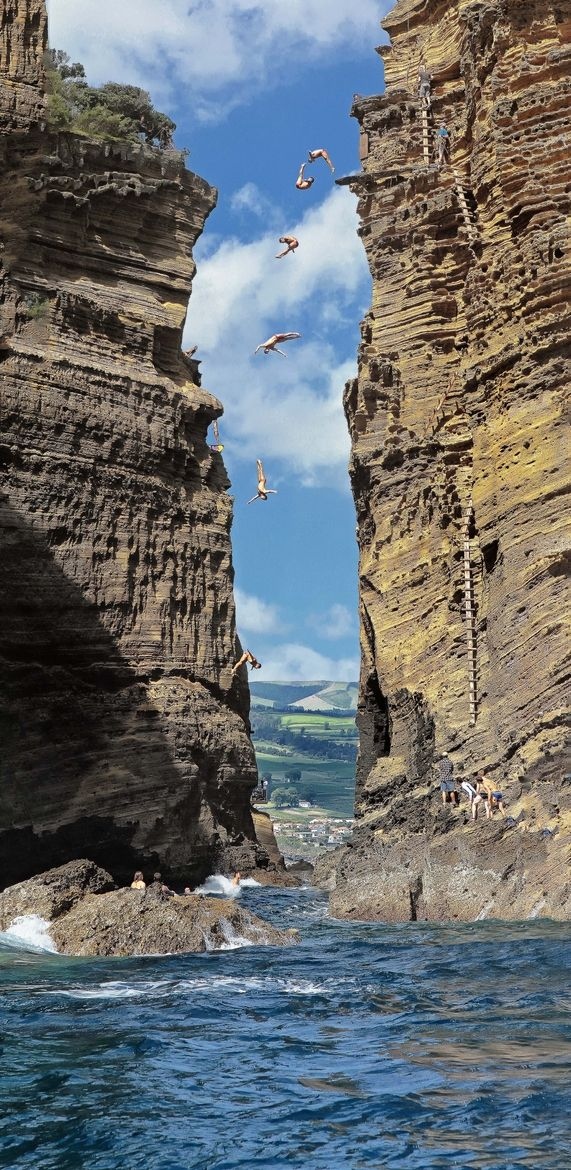 cliff diving 2012 azores portugal