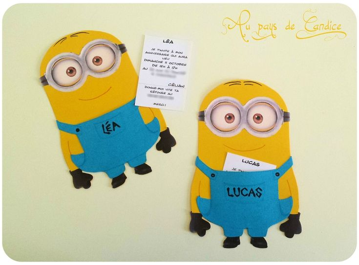 invitations pour un anniversaire minion garderie pinterest invitations et minions. Black Bedroom Furniture Sets. Home Design Ideas