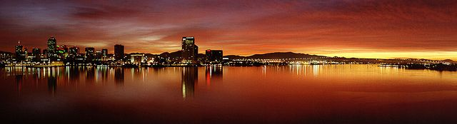 ...light.    Sunrise over San Diego from Coronado with 12 panel panoramic  Photography by Craig McClure  © 2006, All Rights Reserved