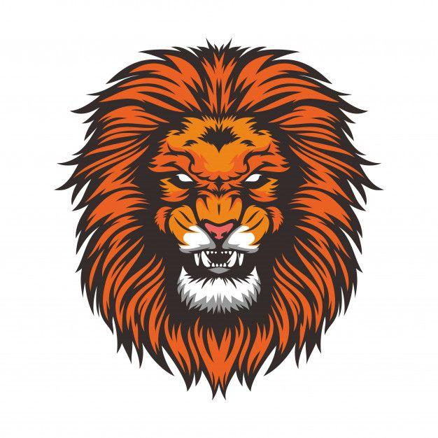 Lion Head Wild Animal Mascot Vector Illustration Template Lion Illustration Lion Head Drawing Lion Vector