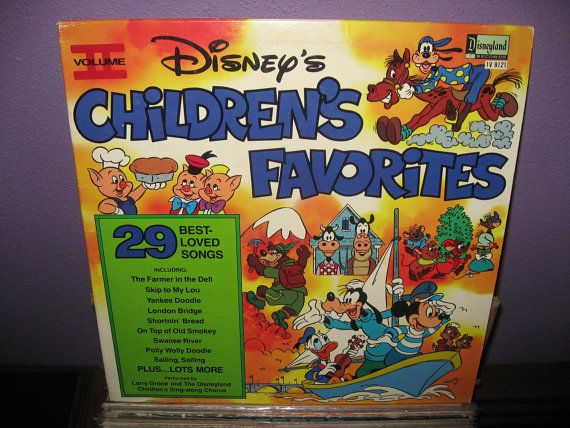 Vintage Vinyl Record Disney's Children's Favorites Vol. 2 LP 1979 Children's Classic Songs