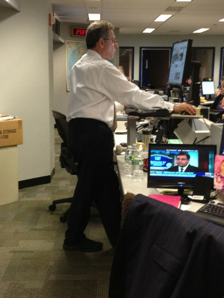 Fun Fact: Bill Ritter doesn't use a chair in the newsroom. He always stands!