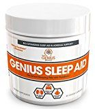 GENIUS SLEEP AID  Smart Sleeping Pills & Adrenal Fatigue Supplement Natural Stress Anxiety & Insomnia Relief  Relaxation Enhancer and Mood Support w/ Inositol L-Theanine & Glycine  40 capsules