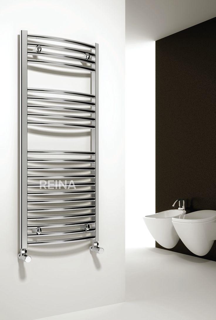 Natasha ladder rail straight modern electric towel radiator in chrome - The Reina Diva Straight Heated Towel Rail Reinas Collection Of Towel Rails Will Enhance The