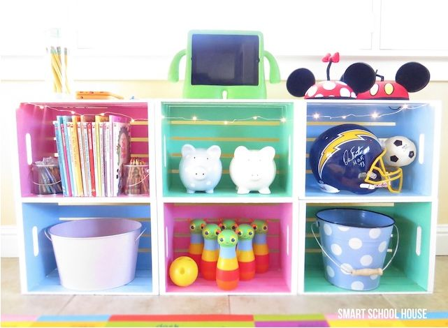 Muebles reciclados con cajas de fruta