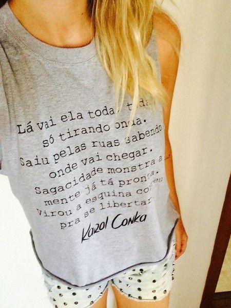 Camiseta Karol Conka - Pandora T-Shirts