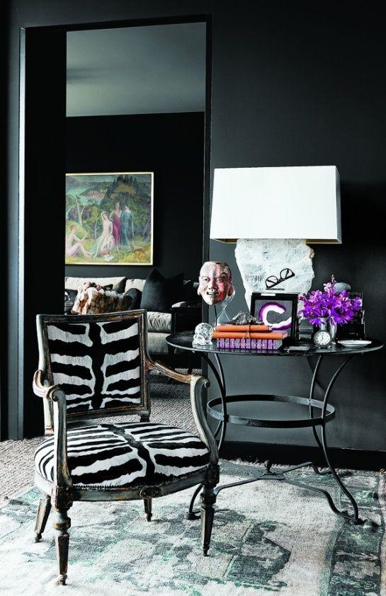 Ambiance z bre idees decoration mobilier de salon noir deco et renovation meuble for Meuble de salon noir