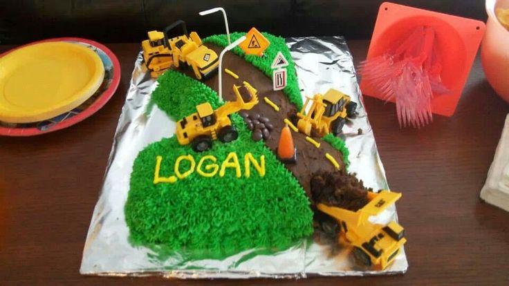 First birthday construction cake!