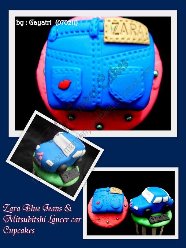 Zara jeans cupcake topper