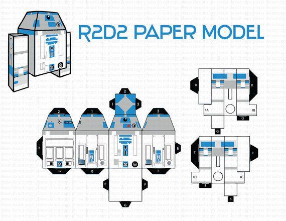 INSTANT DL- R2D2 Paper modelpaper craftPaper ToyDiy