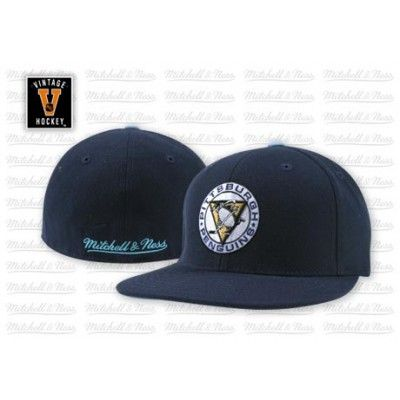 NHL Vintage Logo Fitted Hat - Mitchell & Ness