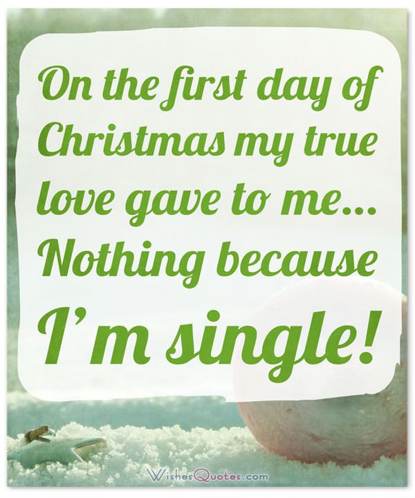 Single For The Holidays Quotes