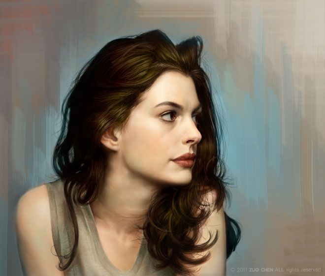 Anne Hathaway Drawing: Anne Hathaway Painting